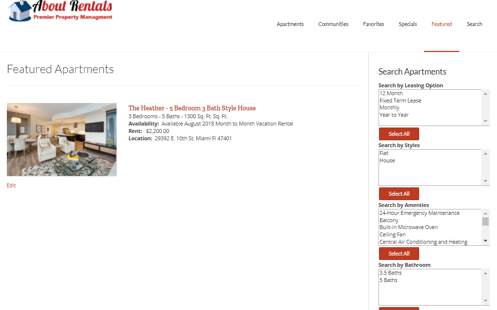 About Rentals – Premiere Wordpress Real Estate and Rental